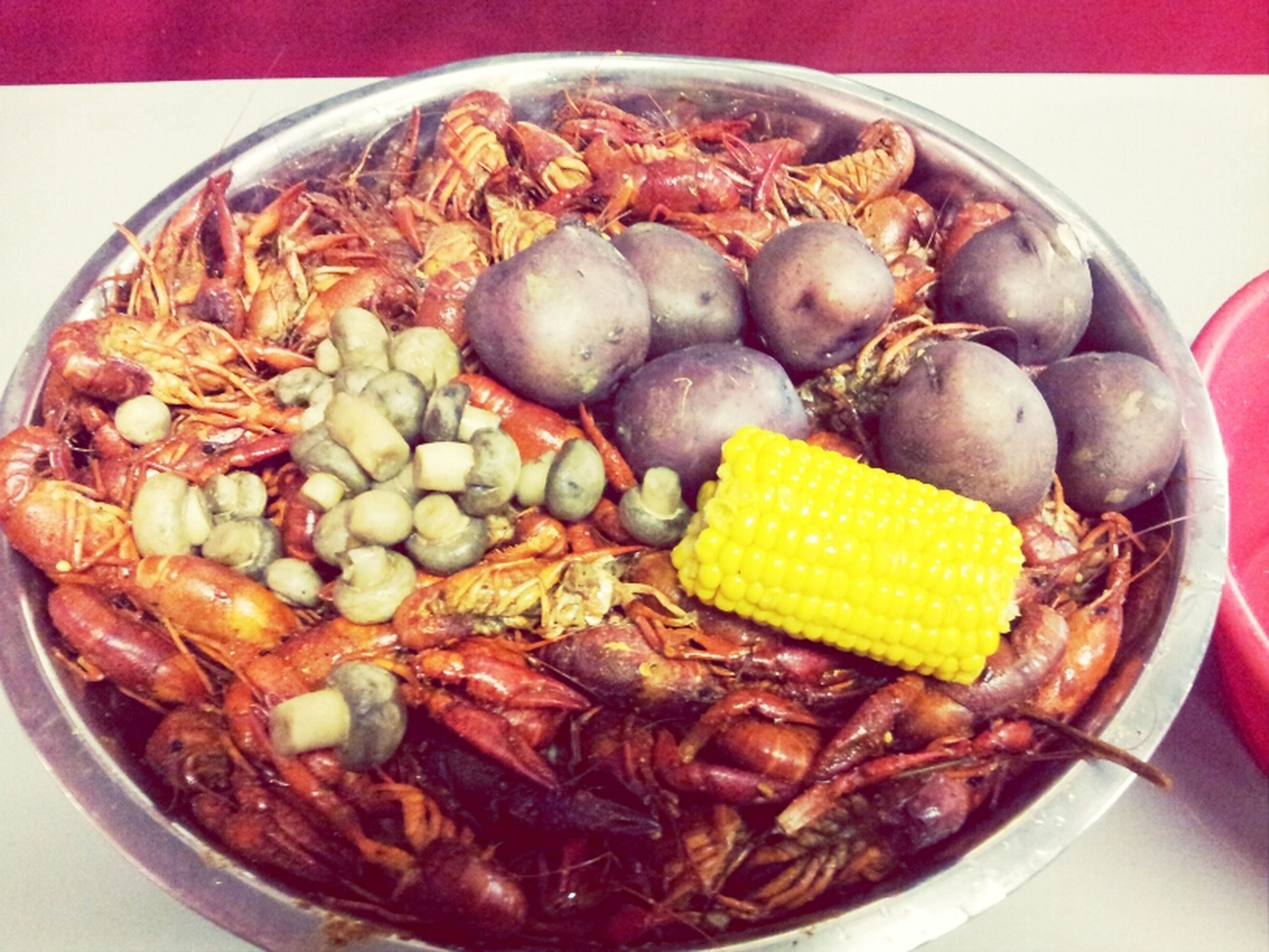 Crawfish With Friends Finally!!!!:)
