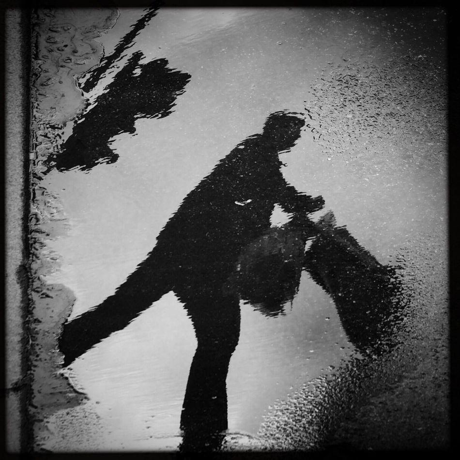 EverchangingBerlin The Passenger Puddleography Streetphoto_bw