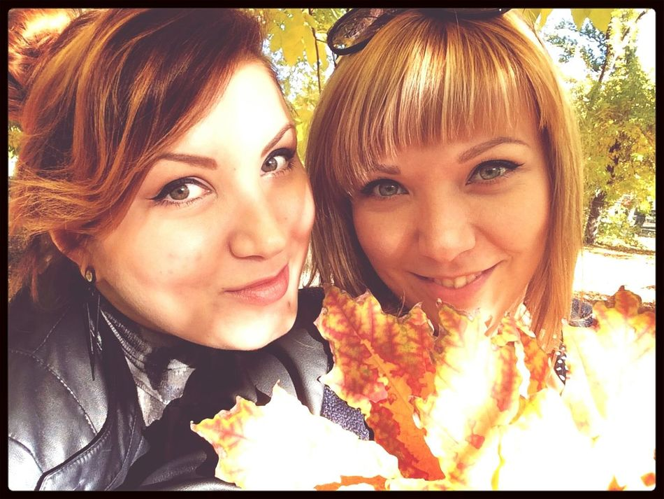 Autumn In The Park  Fall Selfie ♥ Girls