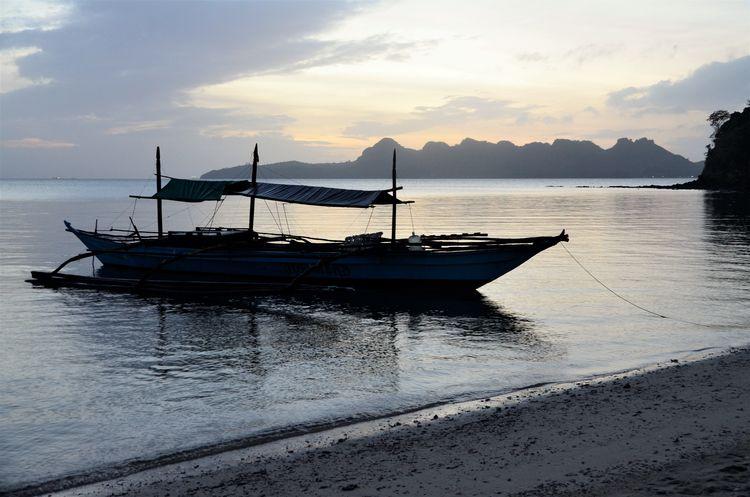 Beach Boat Miles Away Outing Quezon Quezon Province