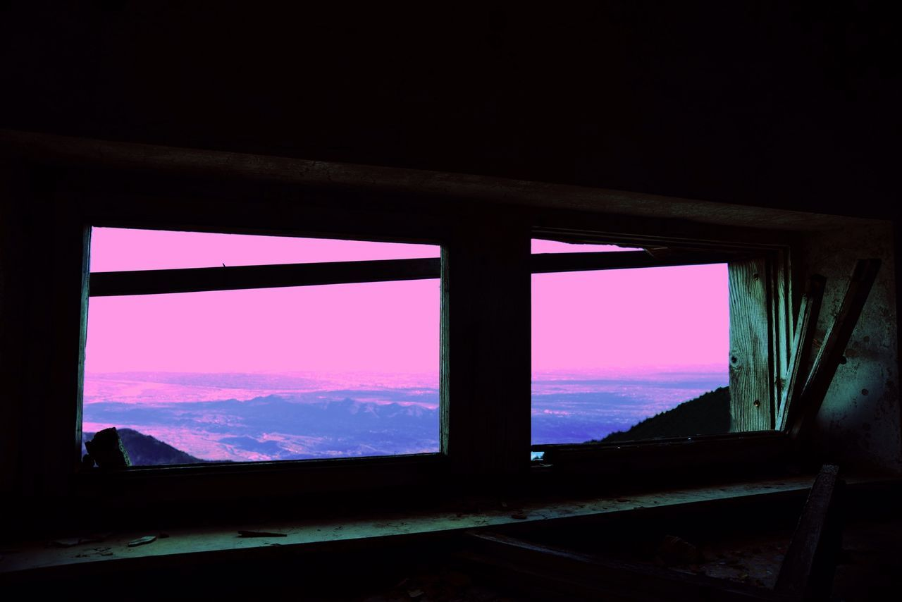 window, indoors, architecture, sky, built structure, connection, no people, bridge - man made structure, day, nature, sunset, girder, close-up