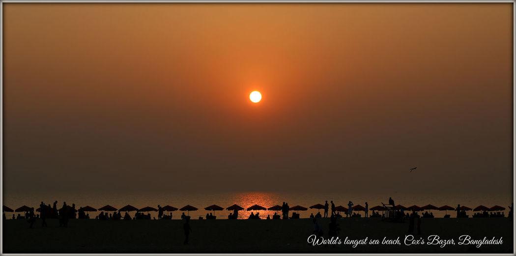 Worlds longest sea beach, Bangladesh Cox's Bazar Evening Evening Sea And Sky Evening Sky Sea Sea And Sky Sea Beach Sea Evening Sky Sea Sun  Sea Sun Beach Sea Sunset Sun Sunset Sunset_collection Sunsets