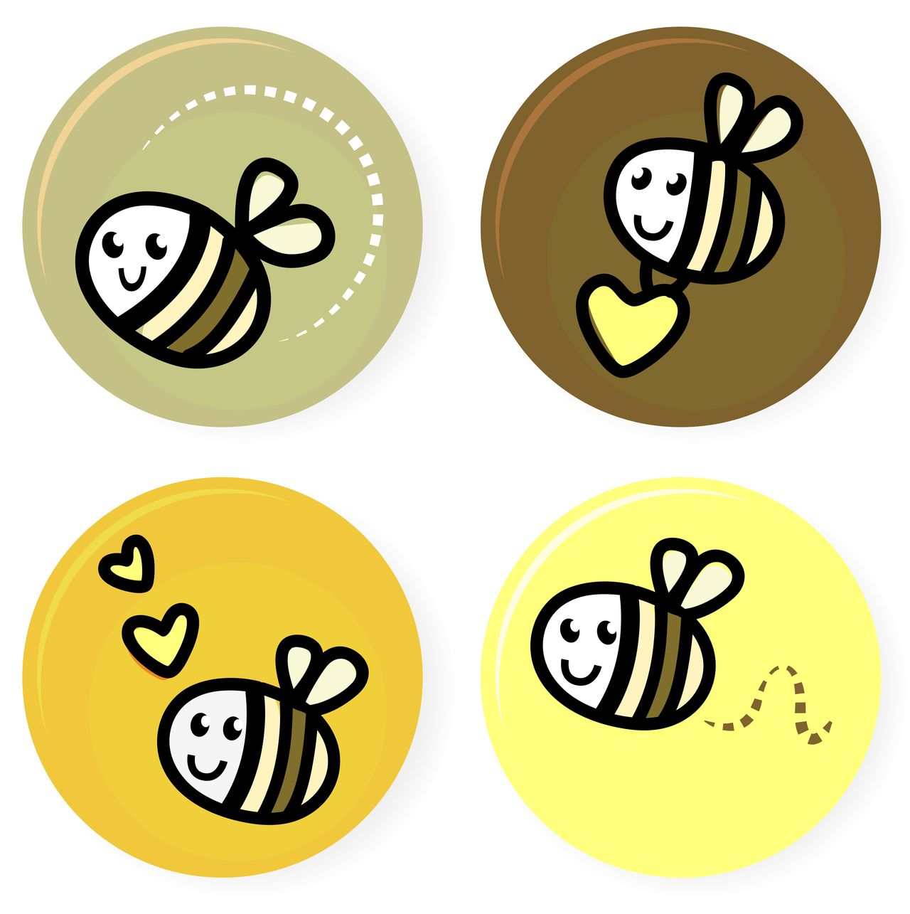 Little bees in Shop : CUTE Lady bees collection / brown, gold Beauty In Nature Computer Icon Day Design Dreaming Gold Gold, Golden Heart Honey Iconsse Iconsset OnWhiteTDR Symbol Symbolism Symmetry White Background