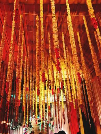 Indian Wedding Decorations Indian Wedding Indian Culture  INDIAN TRADITION Indian Flowers Hanging Large Group Of People Day Real People Men Indoors  Women Architecture People