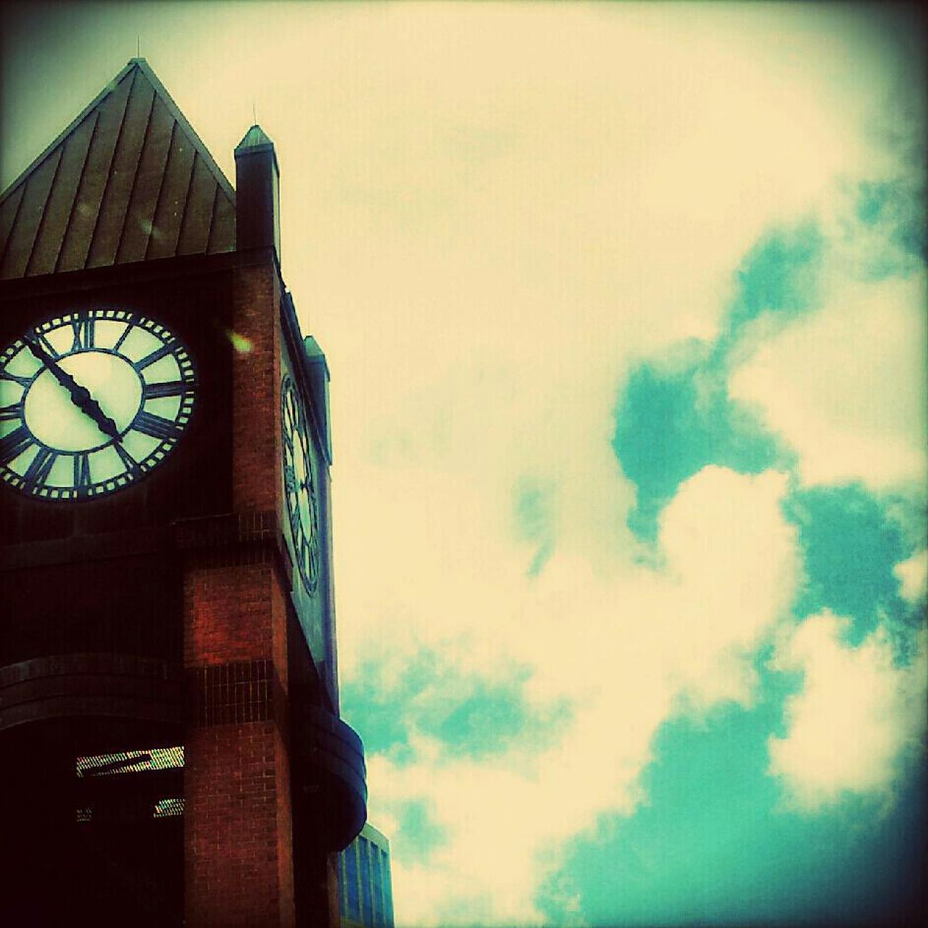 Clouds Streetphotography Clock Sky Quality Time Time Taking Photos Blue Building Clouds And Sky Jus Because