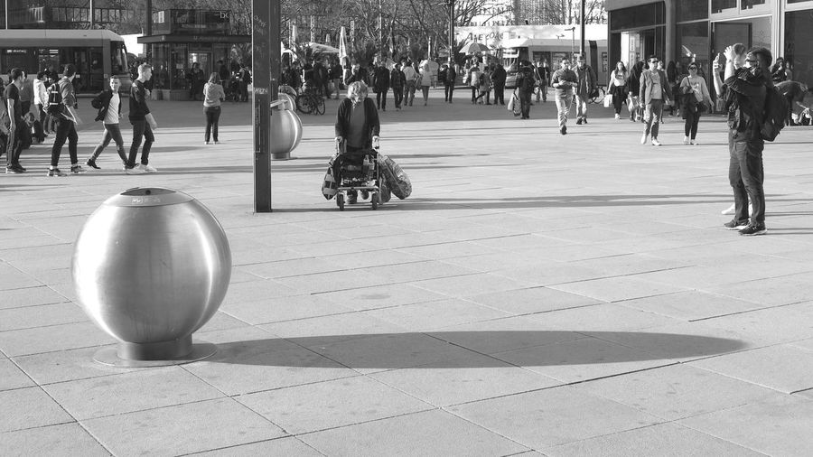 Early spring scenery at Berlin Alexanderplatz Adult Adults Only Alexanderplatz Blackandwhite Candid City City Life Day Editorial  Large Group Of People Lifestyles Men Old Woman Outdoors People Public Places Real People Scene Scenery Spring Spring Has Arrived Streetphotography The Street Photographer - 2017 EyeEm Awards Strassenfilm