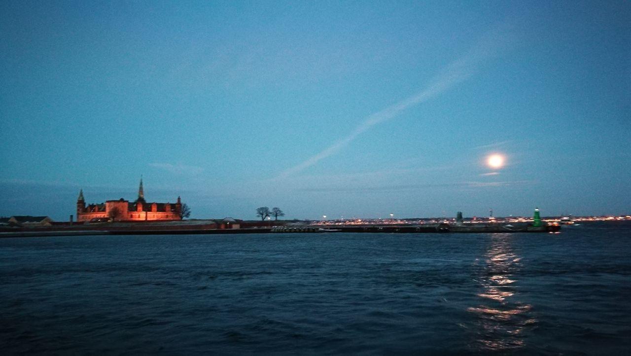 Kronborg KulturHavnen Helsingør Outdoors Night Sea Water Sky No People First Eyeem Photo