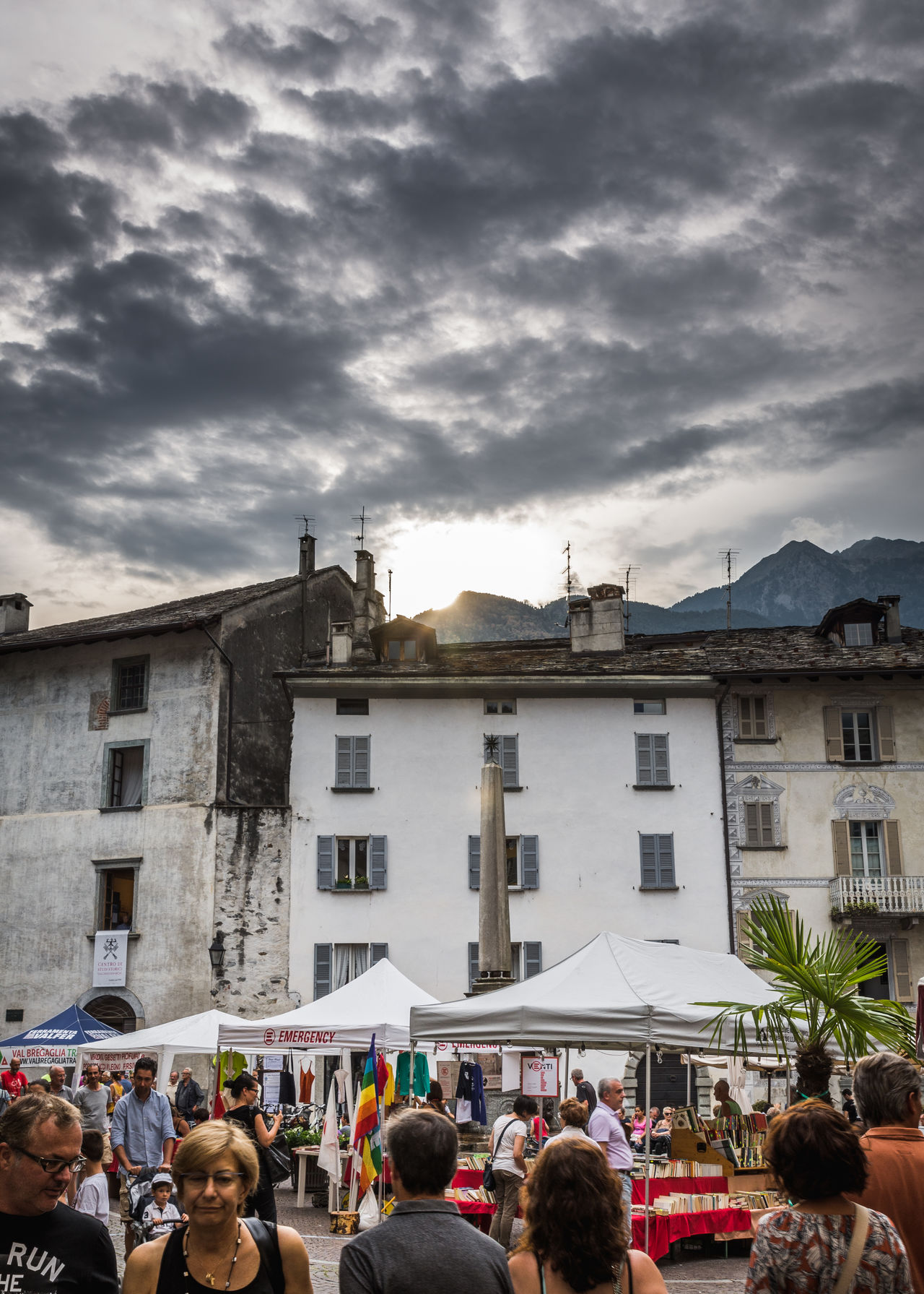Adult Adults Only Architecture Building Exterior Built Structure Chiavenna Cloud - Sky Community Crowd Day Italy Large Group Of People Leisure Activity Market Market Stall Men Outdoors People Real People Sky Togetherness Women