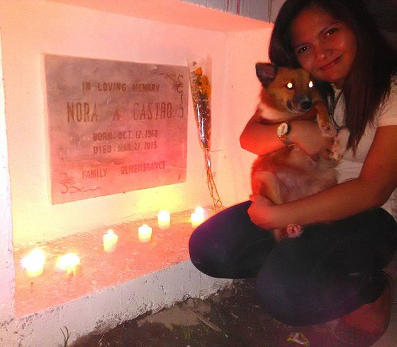 Visited a lovely citizen of heaven. 👼 Momsi
