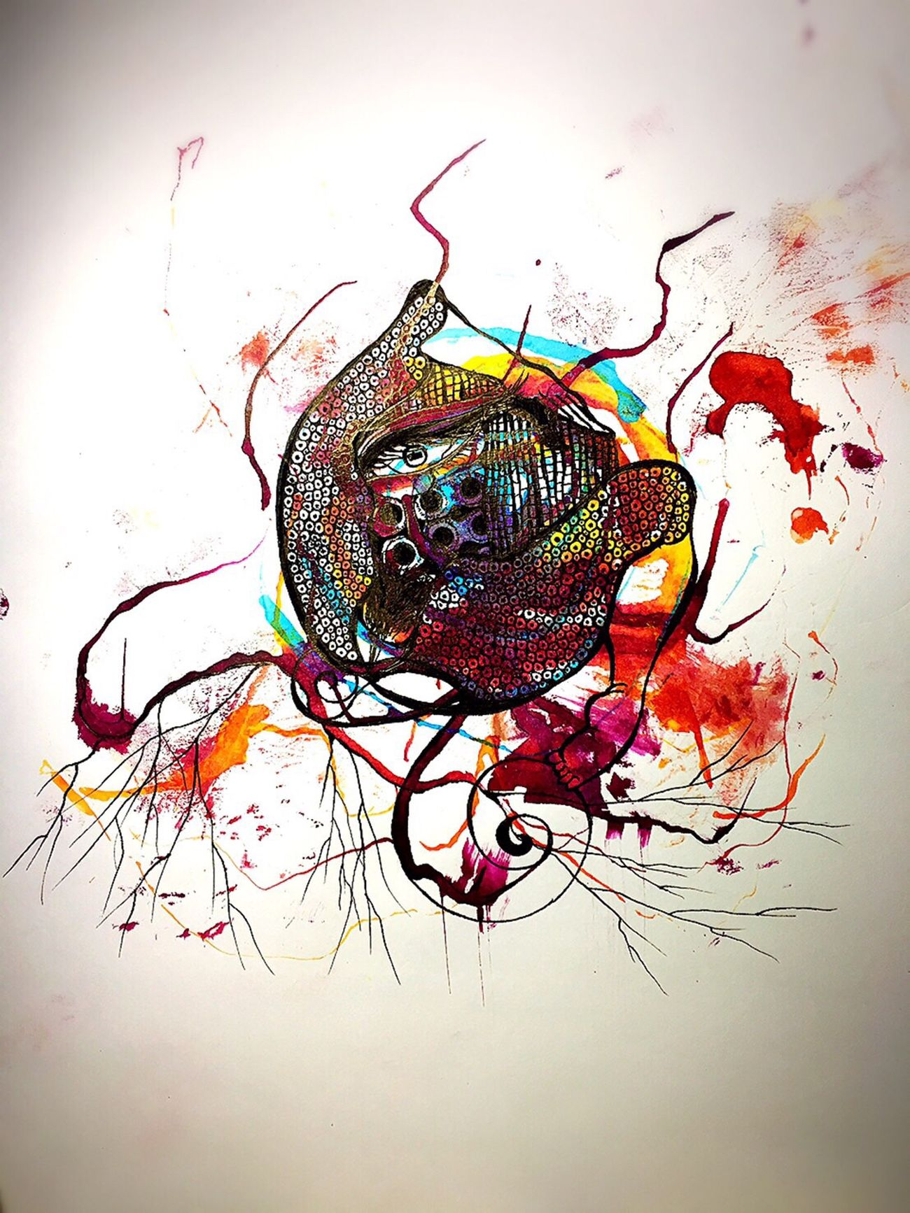 Multi Colored ArtWork Art And Craft Art, Drawing, Creativity Drawing Drawing ✏ EyeEmNewHere Abstract Art