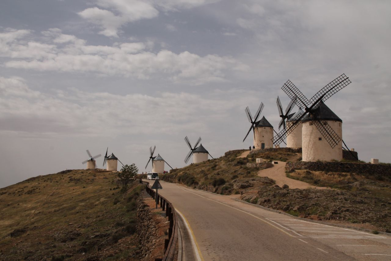 Wind Power Environmental Conservation Windmill Built Structure Consuegra La Mancha Taking Photos Travel Destinations Check This Out Hanging Out Windmill Architecture Wind Power Full Length Building Exterior Nature Traditional Windmill No People Sky Outdoors Day Cloud - Sky Rural Scene Technology Nature
