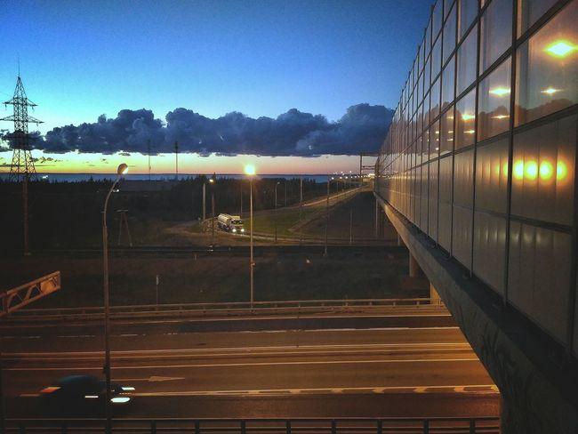 Sky Transportation Outdoors Railing Horizontal Passenger Boarding Bridge Road