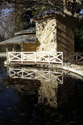 Architecture Building Exterior Built Structure Day Nature No People Outdoors Parque El Capricho Tree Water Reflections In The Water