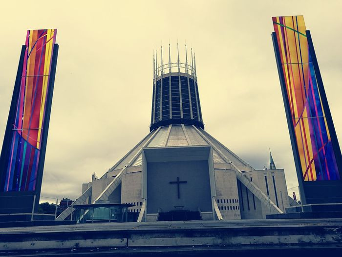 Liverpool Cathedral Built Structure Travel Destinations Tall - High Sky City Church Arhitecture