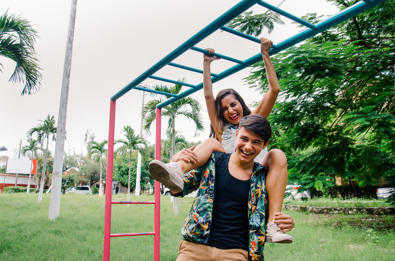 Beautiful stock photos of mexico, 20-24 Years, Bonding, Cancun, Carrying On Shoulders