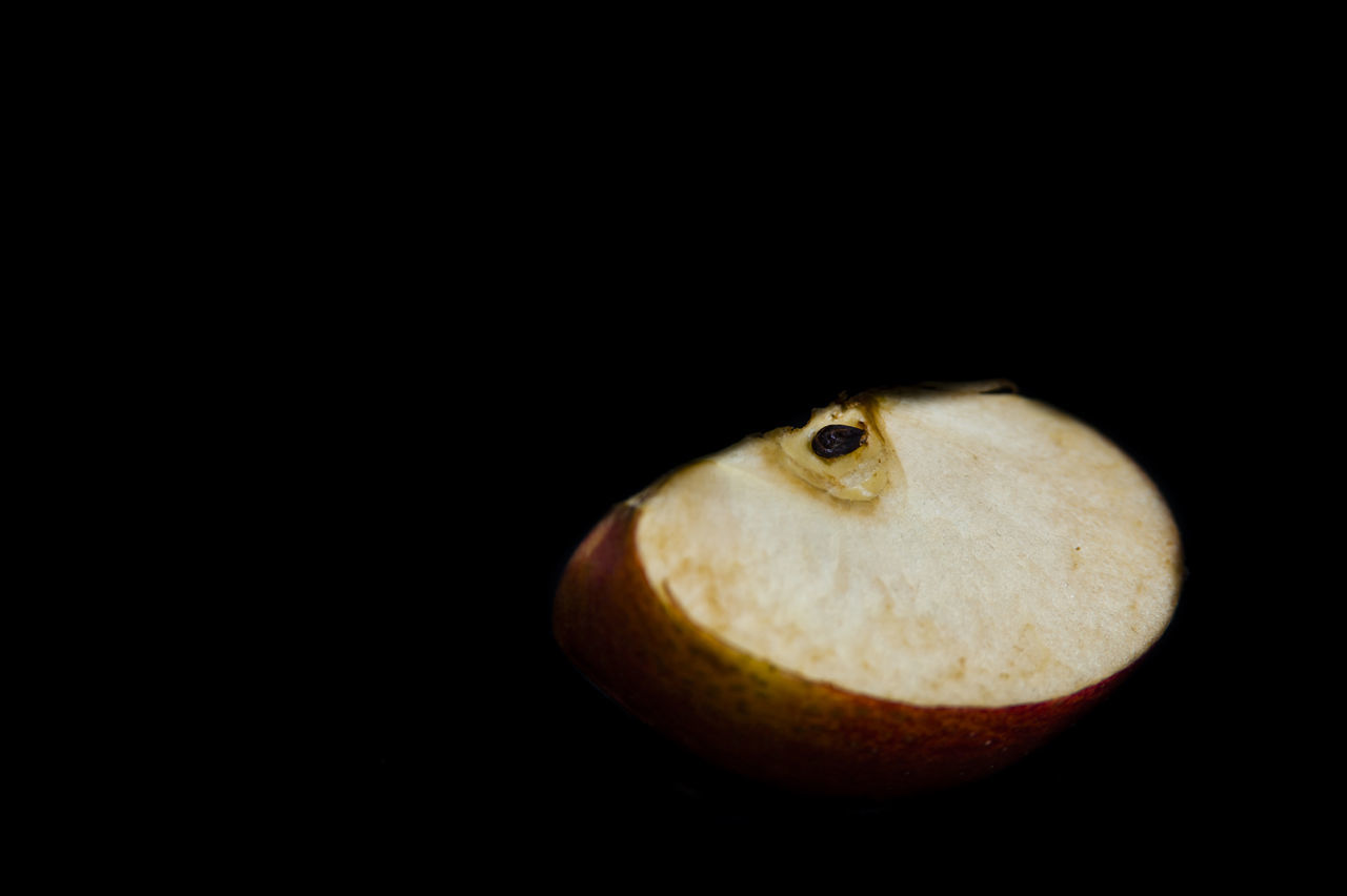 Apple Black Background Close-up Food Food And Beverages Fresh Fruits Healthy Food Product Red Apples Seeds Still Life Studio Shot