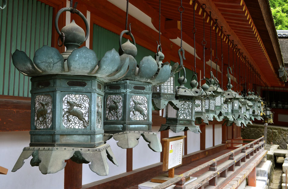 Architectural Feature Green Japan Japanese Culture Japon Lantern Lanterna Nikko No People Outdoors Perspectiva Perspective Photography Temple - Building Templo Tradicional Traditional Culture Verde фонарь أضواء 燈籠