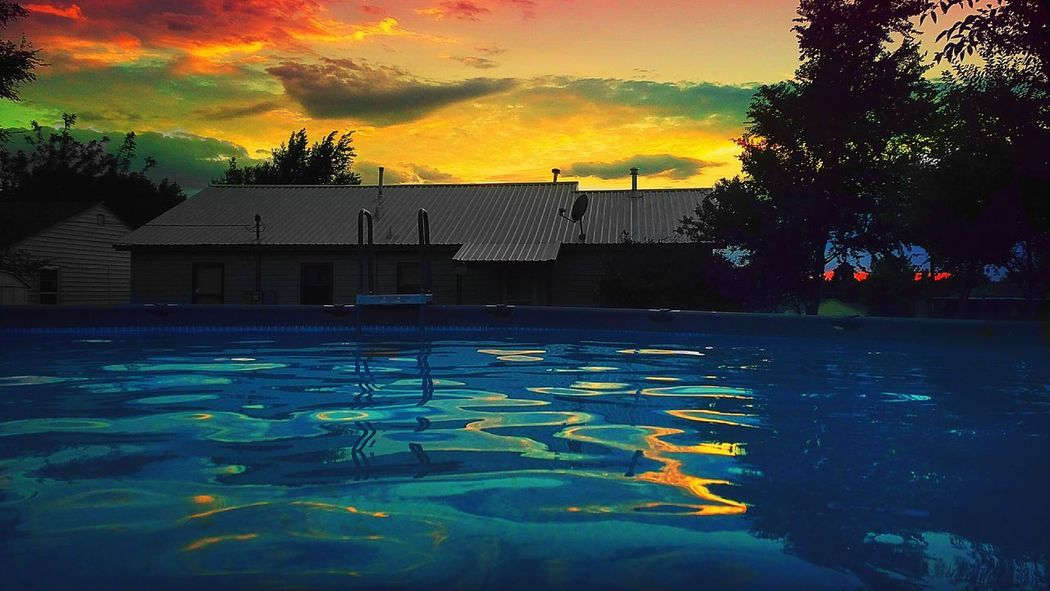 Sunset Multi Colored Water No People Outdoors Swimming Pool Architecture Sky Tree Day Paint The Town Yellow Amarillo, TX The Week On EyeEm Lost In The Landscape Discover Berlin Perspectives On Nature Rethink Things Postcode Postcards