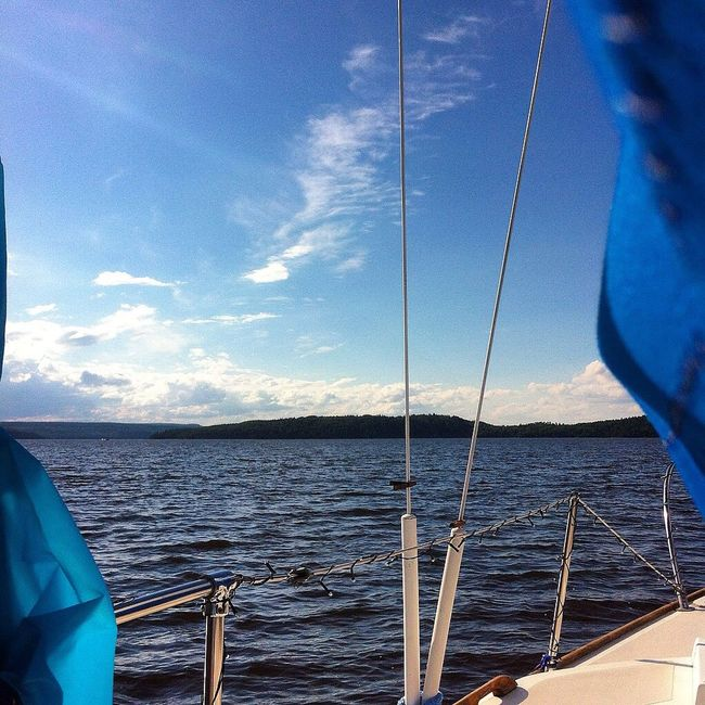 Sailboat Quebec Nature Water_collection Sunlight Nature_collection Clouds And Sky Waves Blue