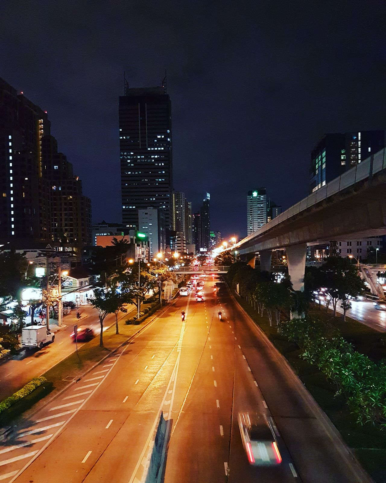 City Street Light Road City Life Traffic Bangkok Thailand IlluminatedNight Transportation Car Sky Long Exposure No People Motion Architecture Light Trail Rush Hour Skyscraper Outdoors First Eyeem Photo