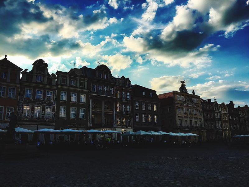 Poznań Poznancity Old Market Poznan Sundown Colorful Sky And Clouds Sky Is The Limit Nostalgic