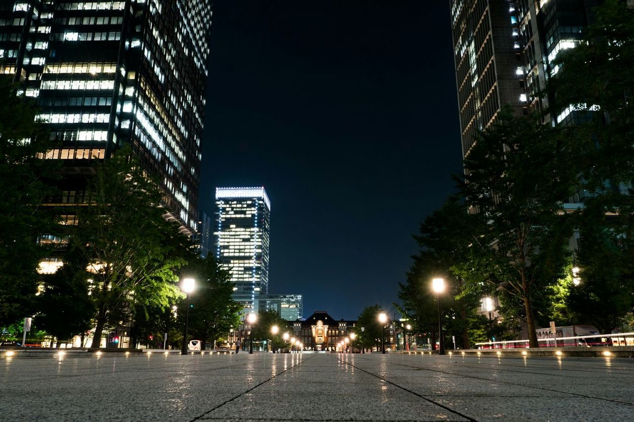 行幸通り / Gyoko-dori Avenue Street Avenue Station Buildings Olympus Nightphotography Night Lights Night Nightview Tokyo Station