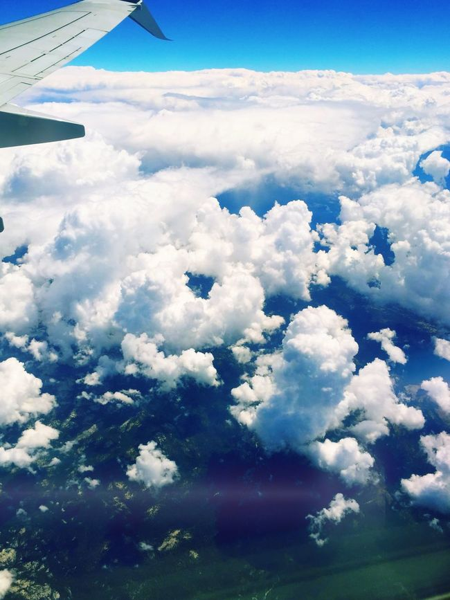 View From An Airplane Amazing Clouds Clouds Hello World In The Sky Amazing View Vacation Memories