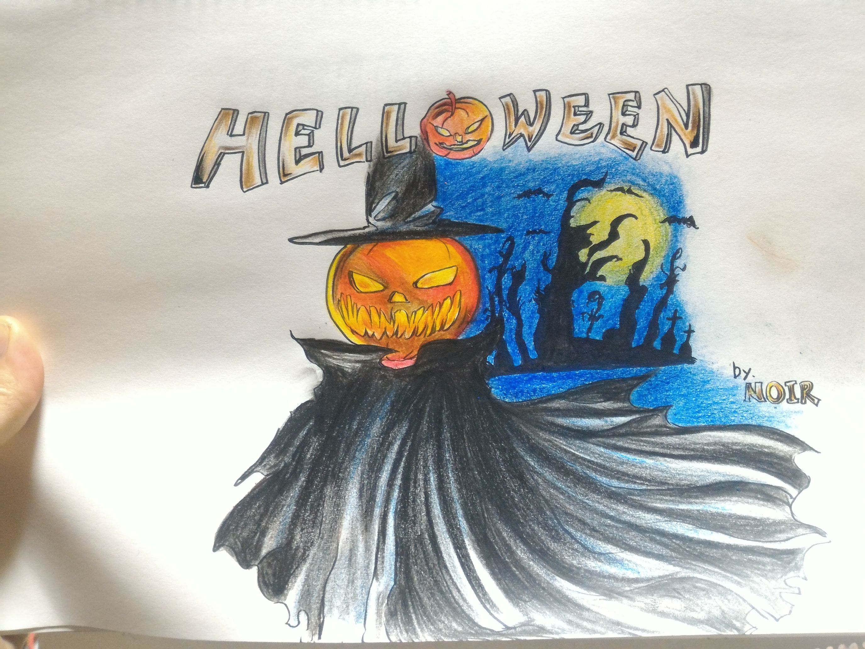 Happy Helloween :) Helloween My Art Darkart HRHM Taking Photos Relaxing Drawing Pencil Drawing Heavymetal Music