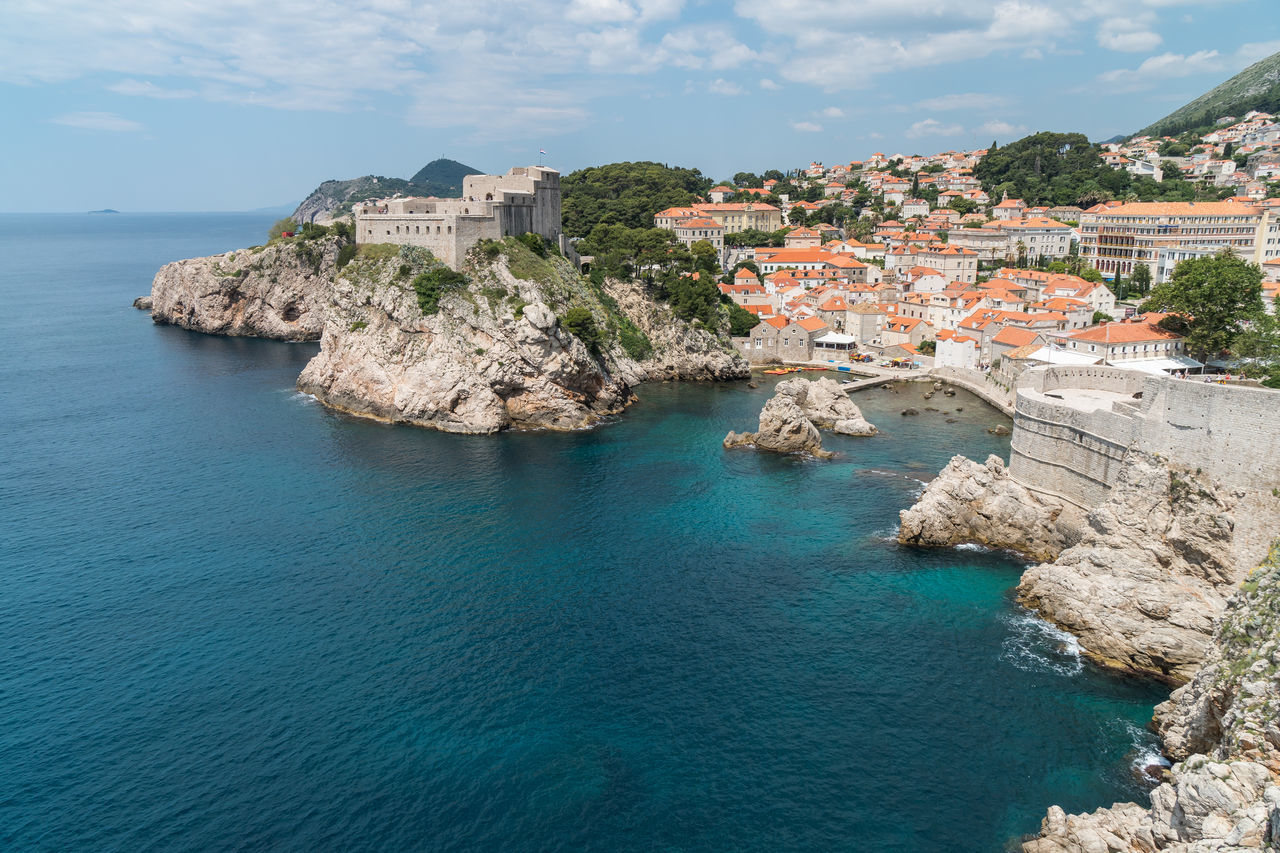 View from the Old City Walls, Dubrovnik, Croatia. Architecture Building Exterior Built Structure City City Coast Coastline Day High Angle View No People Outdoors Sea Sky St Lawrence Fortress Travel Destinations Water