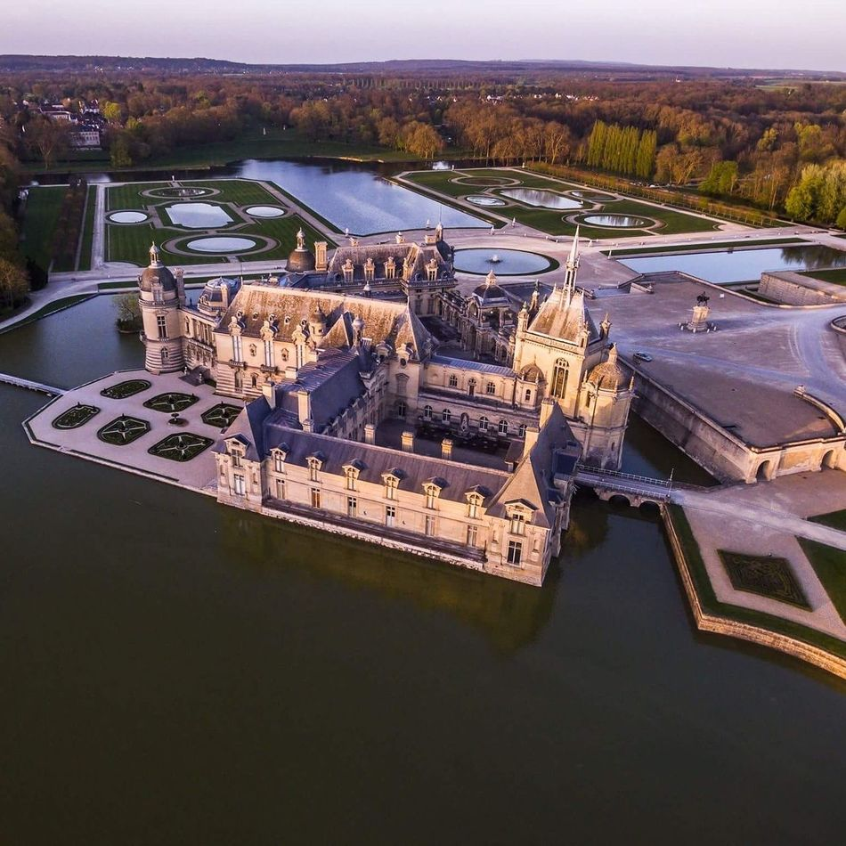 Castle of chantilly (france) Castle Castles Dronephotography Drone  DJI Phantom 3 France Outdoors Architecture No People Aerial View Building Exterior Sky