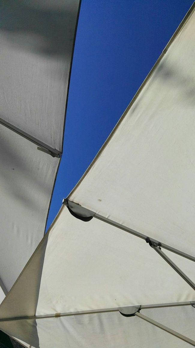 Blue Sky Canvas Sunshade Pattern Still Life