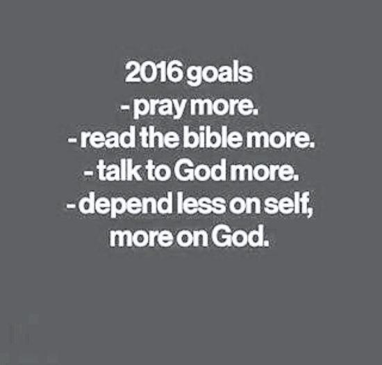 Let's start there 📌 2016 Goals God First