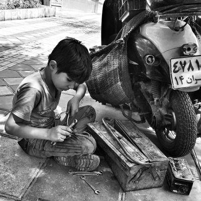 The Street Photographer - 2014 EyeEm Awards Streetphotography Blackandwhite Monochrome