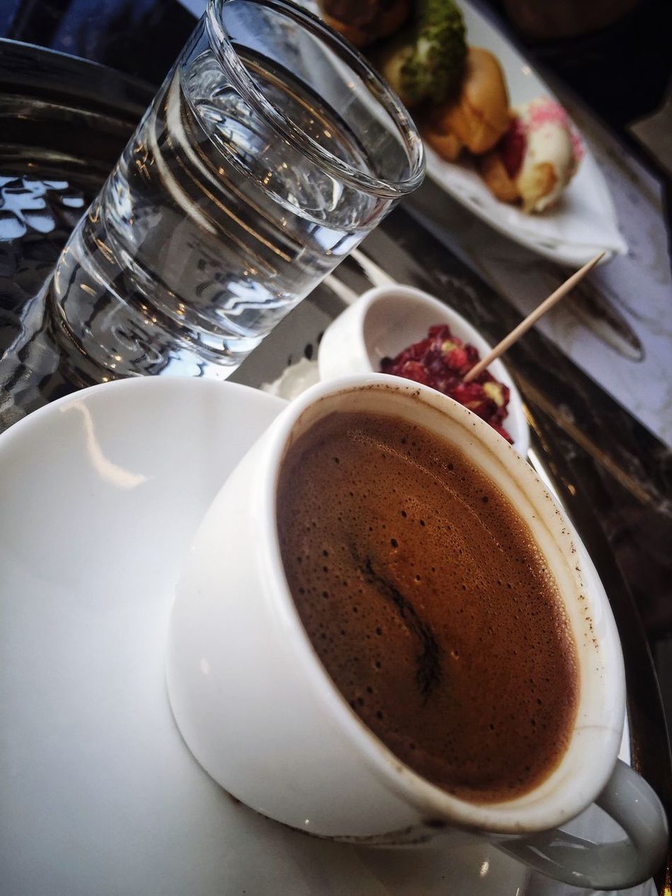 Food And Drink Drink Table Close-up No People Turkey Turkish Water Cafe Drinks Coffee Greek Coffee  Coffee Cup Turkish Coffee Food And Drink