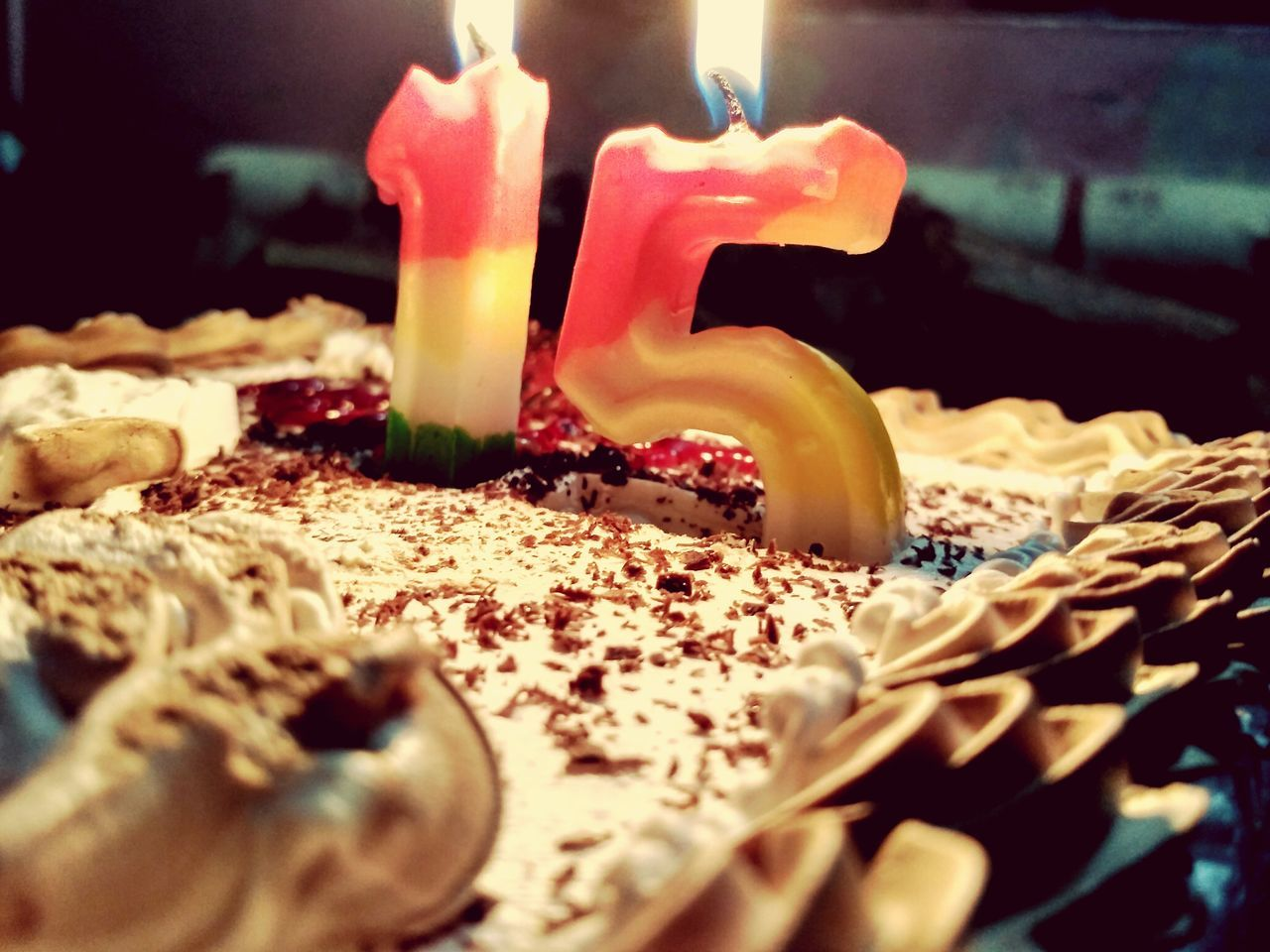 candle, flame, burning, birthday cake, birthday candles, food and drink, indoors, cake, sweet food, food, close-up, no people, birthday, melting, temptation, celebration, heat - temperature, dessert, freshness, day