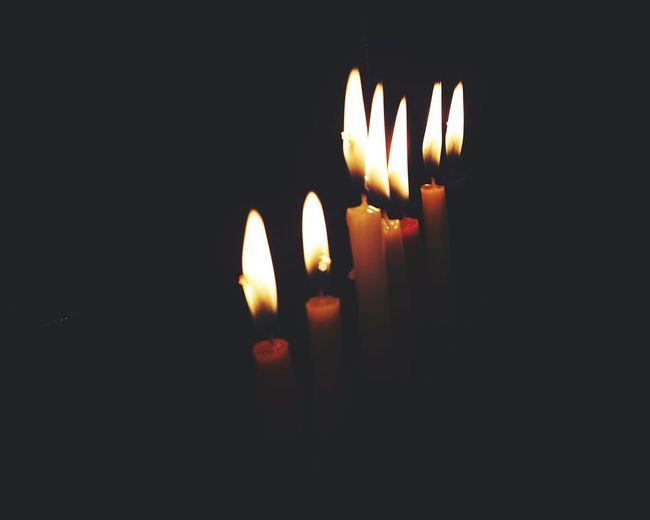 Sixth candle of Hanukkah Hannukah Netanya Home_sweet_home Jewishlife Hannukahcandles אור נרות חנוכה חג נרשישי חגשמח Jewish Hanukkah Candles Light Ig_israel Flame Burning Candle Heat - Temperature Illuminated No People Indoors  Close-up Black Background Night