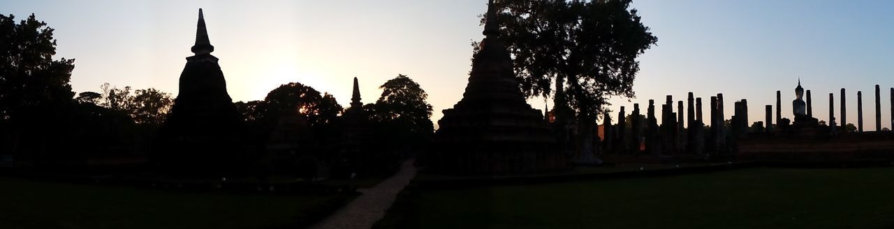 Architecture Building Exterior Built Structure City Cultures Day Finding New Frontiers History No People Outdoors Panoramic Silhouette Sky Sukhothai Historical Park Sukhothai, Thailand Sukhothaiheritage Sukhothaihistoricalpark Sunset Travel Destinations Tree