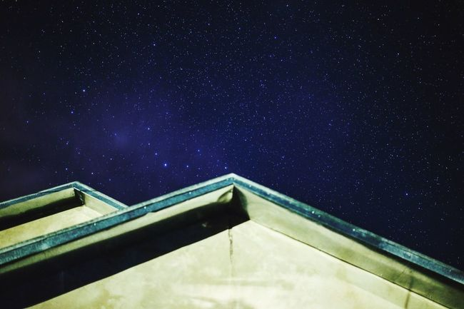 sky Low Angle View Star - Space Built Structure No People Night Sky Astronomy Nature Outdoors Constellation Beauty In Nature Star Field Architecture Scenics Building Exterior Galaxy First Eyeem Photo