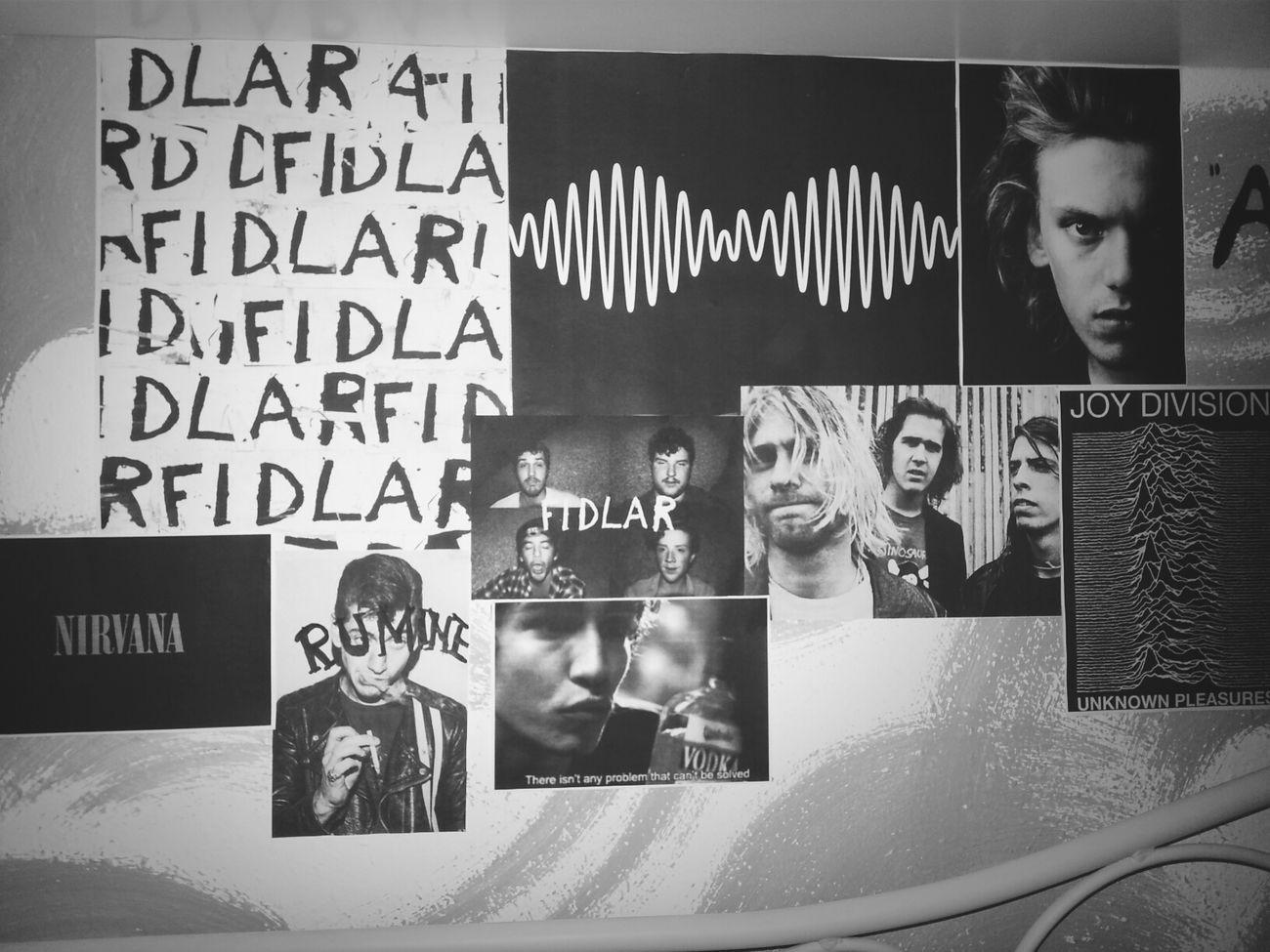 Meinebettwand Check This Out Nirvana . Fidlar #joydivision #arcticmonkeys