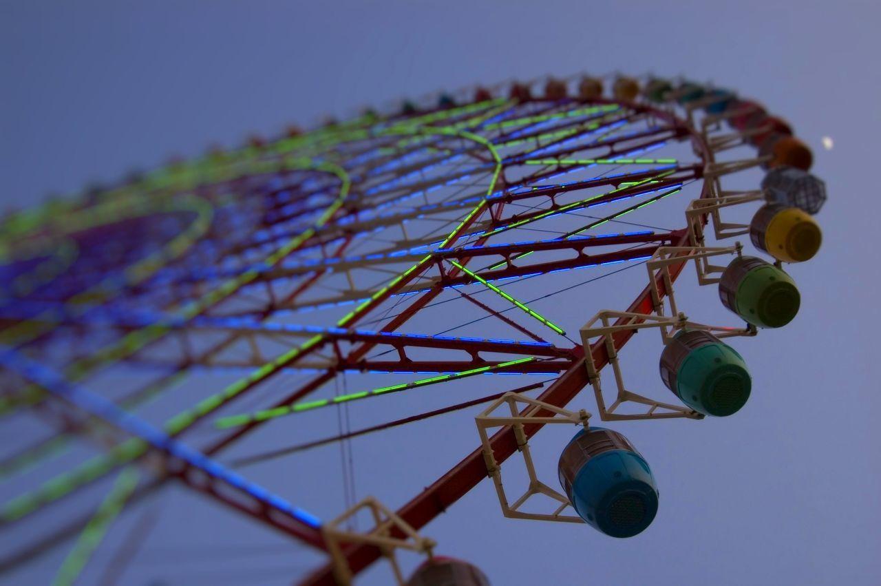 Evening Ferris Wheel Ferry Wheel Landmark No People Outdoors Scenics