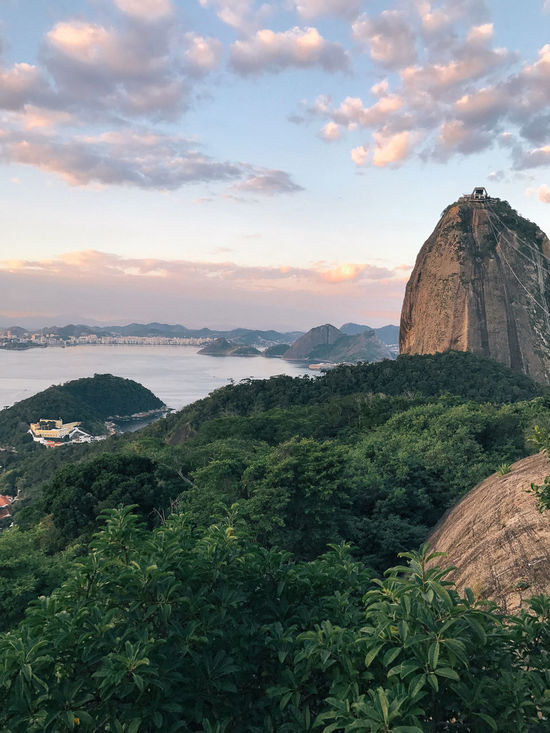 Beauty In Nature Christ The Redeemer Cityscape Cloud - Sky Day Landscape Mountain Nature Ocean Outdoors Rio De Janeiro Rock - Object Scenics Sea Sea And Sky Sky Sky And Clouds Sugarloaf Sugarloafmountain Summer Sunset Tranquil Scene Tranquility Travel Travel Destinations