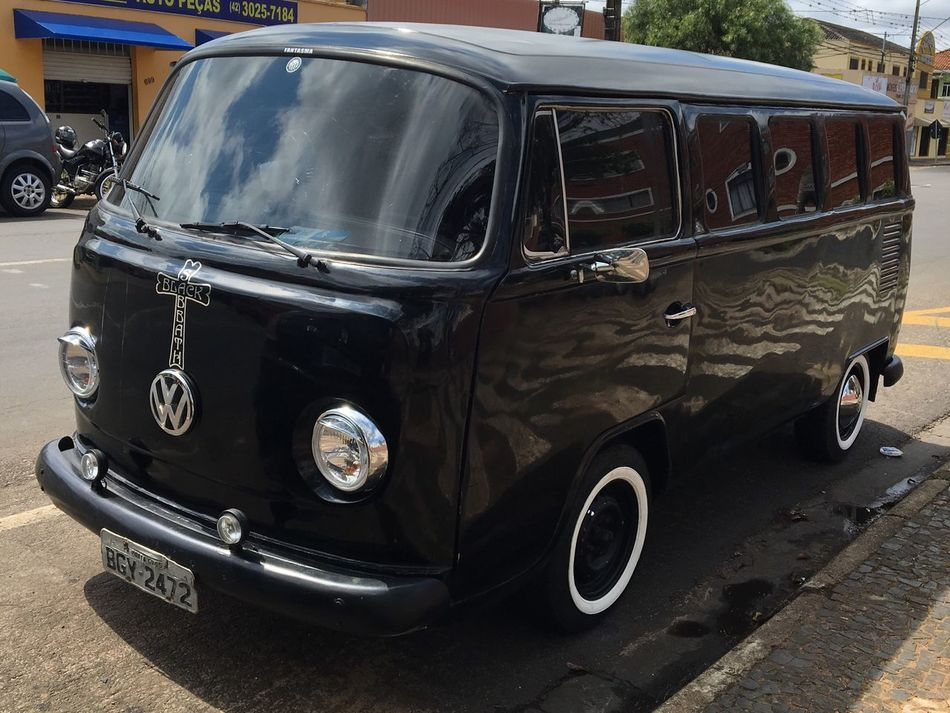 Black Sabbath's Kombi. Car Old-fashioned Street Vintage Car Outdoors Kombi Blacksabbath