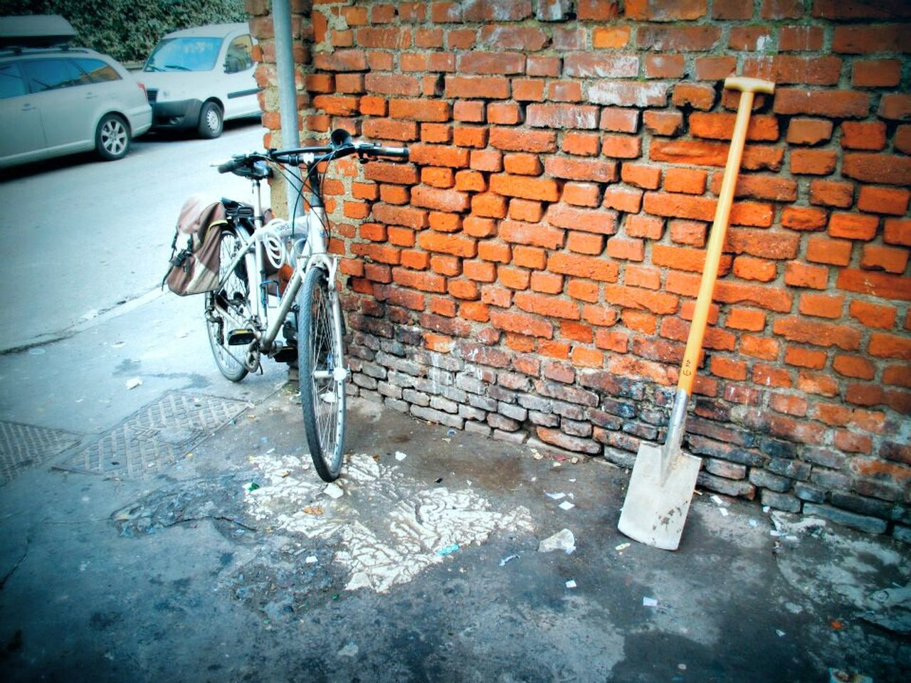 Urbanexploration Hinterland Urbanscape Wall Outdoor Bicycle Guerrilla Gardening Urban Gardening Garden Tools Urban Scene FreeTime Enjoying Life No More Cars