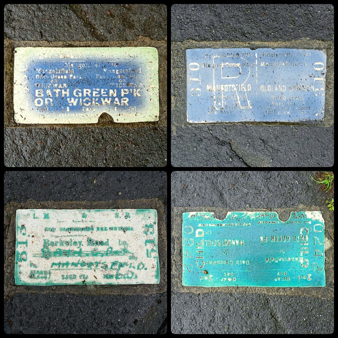 Text Western Script Communication Full Frame Backgrounds No People Day Outdoors Textured  Guidance Pattern Close-up Ceramic Art Train Station Train Ticket Heritage Site Heritage Railway Mangotsfield British Railways