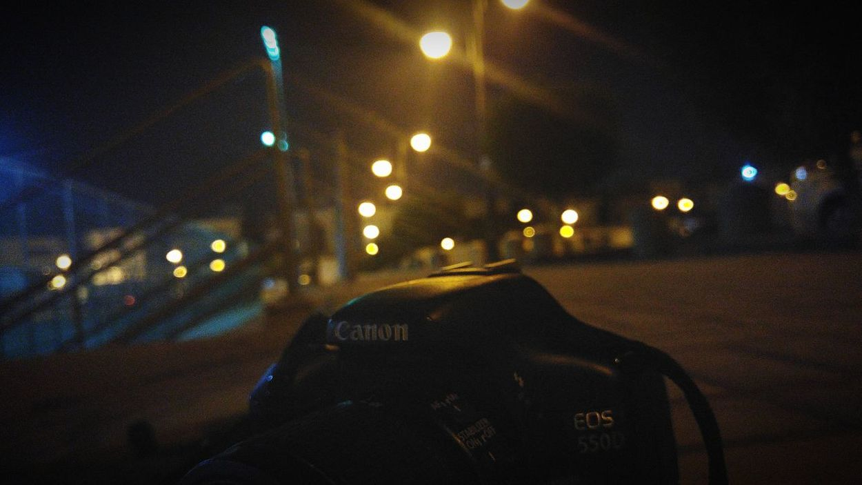 Relaxing Taking Photos Riyadh Night Lights