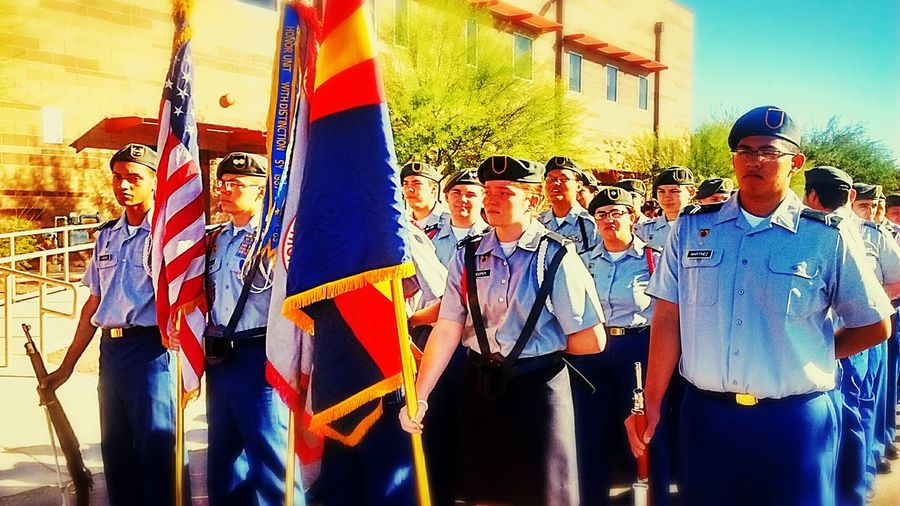 I did some Color Guard for Guadalupe Veterans Day Parade (Far Left) Color Guard