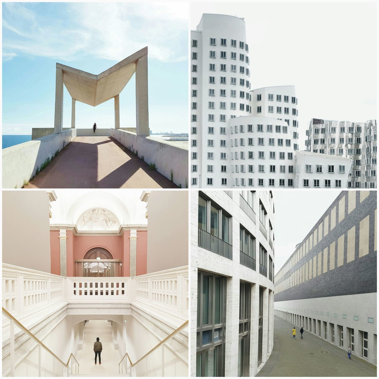 Throwback 2016. Some of my favourite work. Modern Architecture Building Exterior Travel Destinations Outdoors Barcelona Streetphotography Urban Geometry Facades Stairs Travelling Minimalism Windows Vanishing Point Passion For Photography Happiness Cobblestone My 2016 Symmetry Business Finance And Industry City Round Architecture Houses Walls Photo Collage