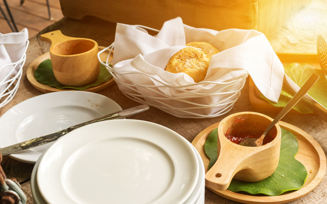Breakfast Bakery Bowl Bread Close-up Cup Day Food Food And Drink Freshness Indoors  No People Plate Ready-to-eat Table White Dish Wooden