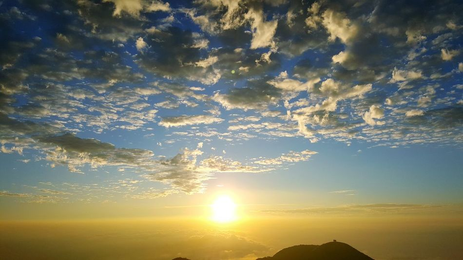 Sunset Reflection Beauty In Nature No People Sky Nature Backgrounds Refraction Outdoors Day Yang Ming Shan  Taiwan Taipei Taiwan Cloud - Sky Clody Day