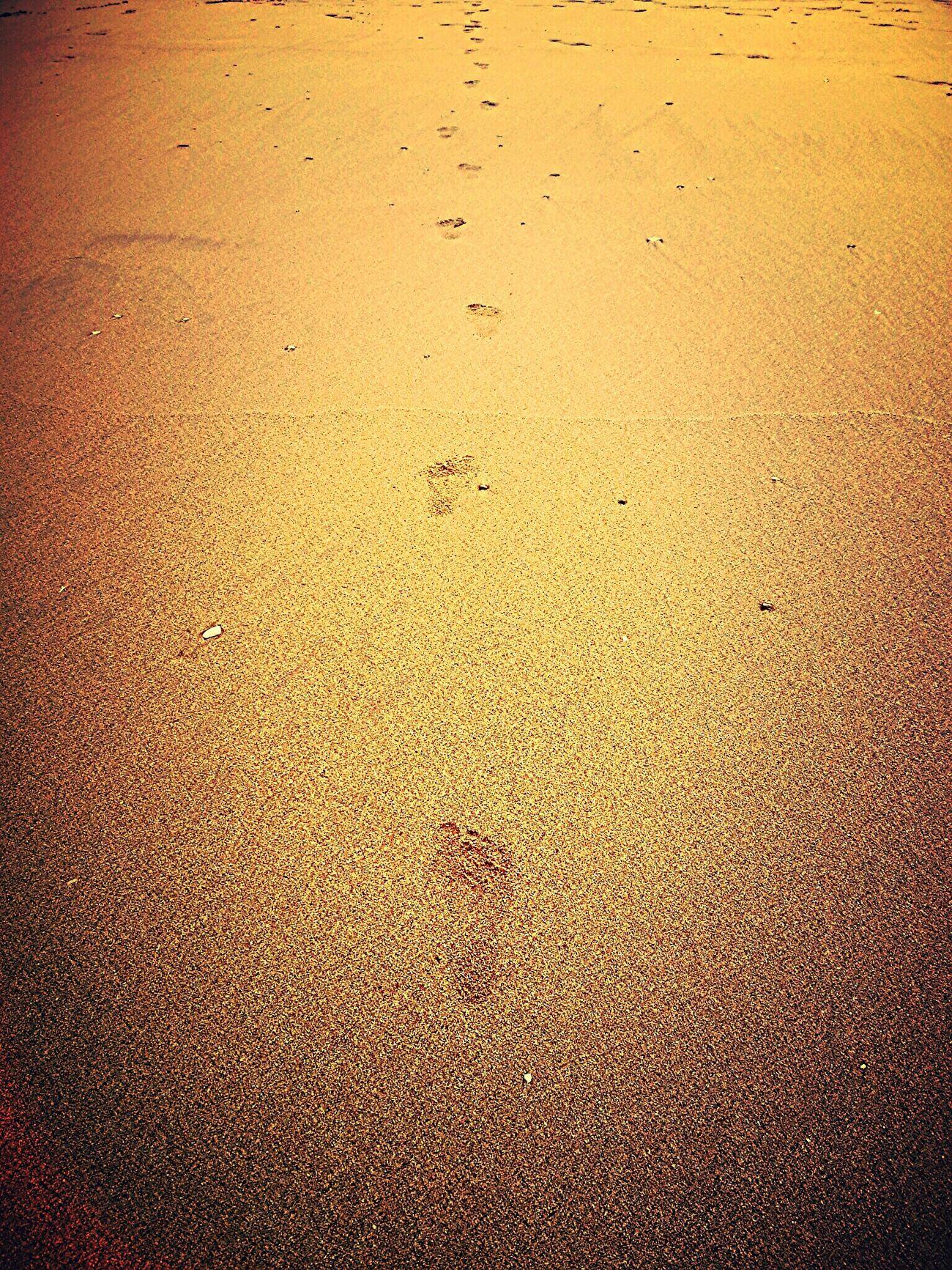 Playa Pasos las huellas de mi pequeña princesa